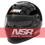 Casco Rs11 Hawk 2017 Cerrado Pista Gafas Negras Nsr Motos
