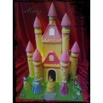 Castillo 35cm De Alto + 5 Princesas A Elección