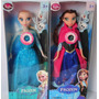 2 Bonecas Do Filme Frozen Disney Musical Elsa E Anna + Olaf