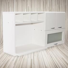 Alacena Porta Microondas 1,20x0,60x30 -muebles-cocina