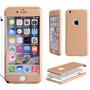 Capinha Capa Case Iphone 6/6s Frente E Verso Dourada Gold 3d