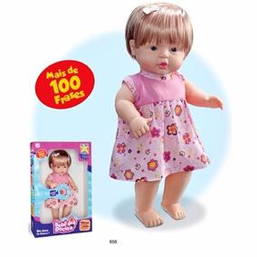 Boneca Bebe Doçura 50cm Fala 100 Frases - Liquidação