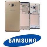 Carcaça Samsung Gran Prime G530 Tv Dourado Sem Tela Touch