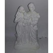 Sagrada Família 30cm Kit Com 5 Imagens De Gesso Cru