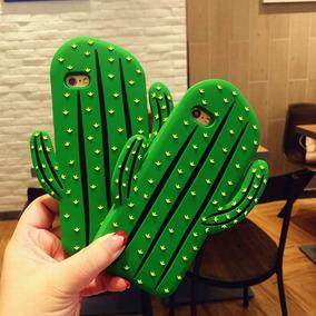 Case Iphone 6 7 Y Plus Figuras Cactus Rosa Oso Chocolate
