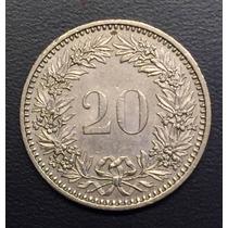 Swi223 Moneda Suiza 20 Rappen 1985 Xf-au Ayff