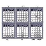 Cartones De Bingo Pdf 100+cuantos Quiera Letreado&tablallena