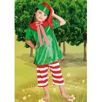 Disfraz Duende Nena Cascabel Talle:1 Disfraces Candela 44835