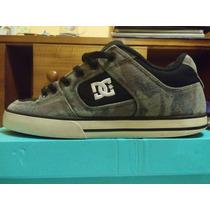 Zapatillas Dc Shoes Pure Negro Y Verde Camo (skate Shoes)