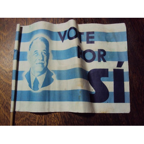 Antigua Banderita Partido Nacional Herrera Plebiscito 50 ´s