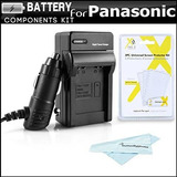 Cargador De Batería Kit Para La Cámara Panasonic Lumix Dmc-t