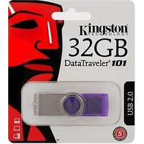 Pen Drive 32gb Kingston Original - Lacrado Blister + Frete