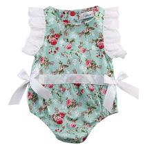 Body Infantil Para Bebê Florido Com Renda Barato