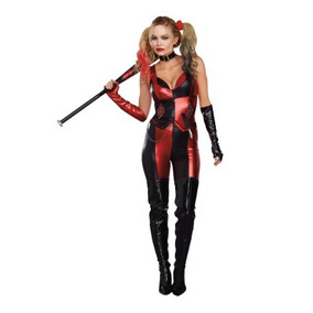 Disfraz Harley Quinn Halloween Traje Arlequín Sexy Mujer
