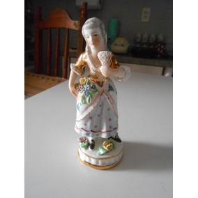 Antiga Porcelana Vieira De Castro Dama Com Leque