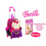 Mochila Barbie 16z C/ Rod.,alças E Bolsinha +cx Lápis De Cor