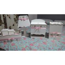 Kit Higiene Maternidade ,todas As Cores , 7 Peças Em Mdf.