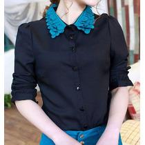 Blusa Formal Casual Flores Decoracion Ropa Japonesa Corea