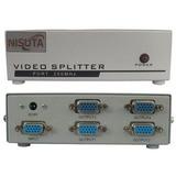 Splitter Vga 4 Puertos Nisuta Ns-vsvg4 250mhz Amplifica 65m