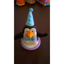 Pinguino De Madagascar, Adorno De Torta, Porcelana Fria.