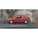 Auto Peugeot 205 Gti 1986 Raro Escala 1:43 Colección Ixo