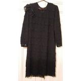 Vestido De Noche Negro Charleston T. 50/52