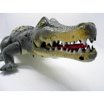 Dinossauro Crocodilo Eletônico Acende Olhos, Mexe Boca