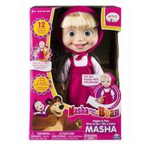 Boneca Desenho Masha E O Urso- Fala 12 Frases -original Eua
