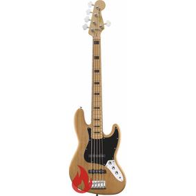 Squier Vintage Modified Jazz Bass V Natural Baixo 5 Cordas !