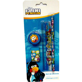 Set De Librería En Blister Club Penguin -minijuegosnet