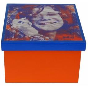Caixa Porta-objetos Mdf Decoupage Decoração Janis Joplin