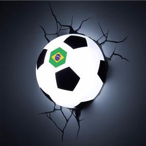 Luminária 3d Light Fx Bola De Futebol Edição Brasil