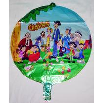 Balão Metalizado Turma Do Chaves Redondo - Kit C/ 50 Balões