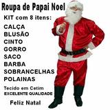 Roupa De Papai Noel Fantasia Luxo Adulto Completa - Promoção