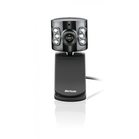 Webcam Multilaser Usb Com Microfone Preta Led Flash