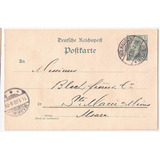 Alemania Imperial 1902 Postkarte Desde Mulhausen A Markirch
