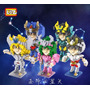 5 Caballeros Del Zodiaco Saint Seiya Loz Diamond Blocks