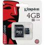 Cartão De Memória Micro Sd 4gb Kingston Lacrado