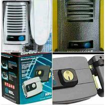 Kit F 8 Interfone Hdl+protetor Cinza +fechadura Hdl C 90