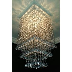 Plafon Lustre De Cristal Acrílico Viena Sala Escada Hall Top