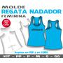 Molde Regata Feminina Fitness Nadador