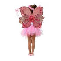 Disfraz De Mariposa Rosa Alas Y Tutu Para Niña Mujer