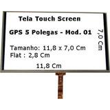Tela Touch Screen Para Gps 5 Foston 5 Polegadas