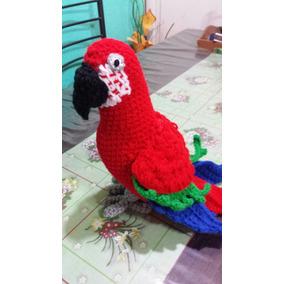 Guacamayo/papagayo Amigurumi.