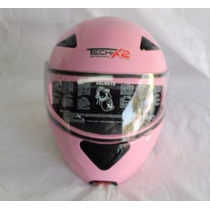 Casco M Abatible Tech-x2 140-100080 Rosa C/ Mica/visera