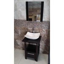 Mueble De Baño Minimalista Lavabo Con Marmol Y Espejo Ivonne