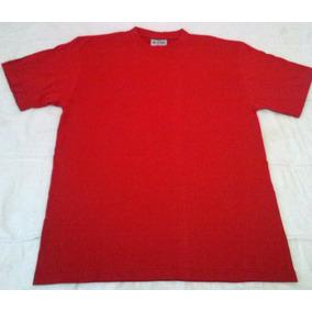 Remera Roja Importada Para Impresion Talle L 100% Algodon