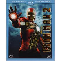 Iron Man 2 Dos Marvel Pelicula En Blu-ray + Dvd