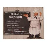 Placa Decorativa Regras Da Cozinha