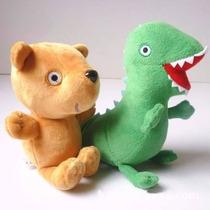 Kit 2 Pelúcias Dinossauro E Urso Ted Da Peppa Pig E George